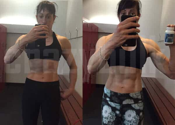 before and after muscle gain women