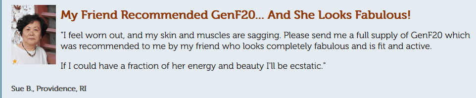 gen f 20 reviews for female looking fitter, more active and skin