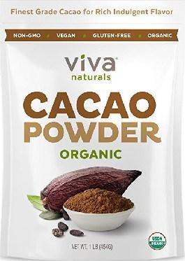 Viva Naturals Organic Cacao Powder On AMAZON