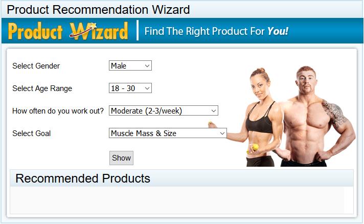 Recommandation de produits pour hommes