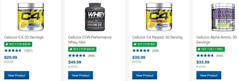 cellucor c4 brands