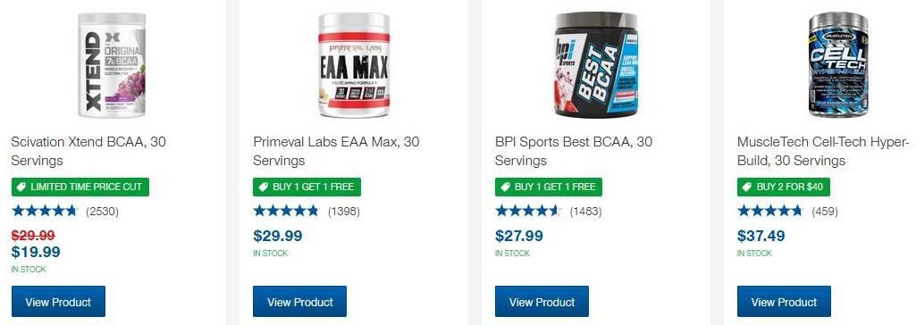 BCAA Supplement for Men & Women