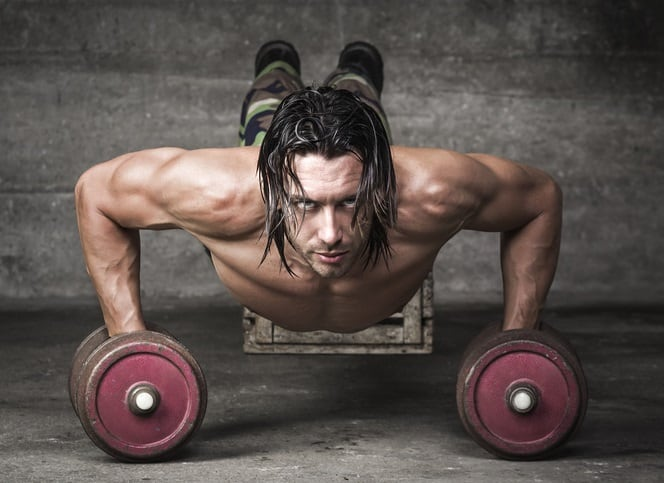 PushUps cross fit man