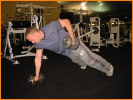 Renegade dumbbell rows